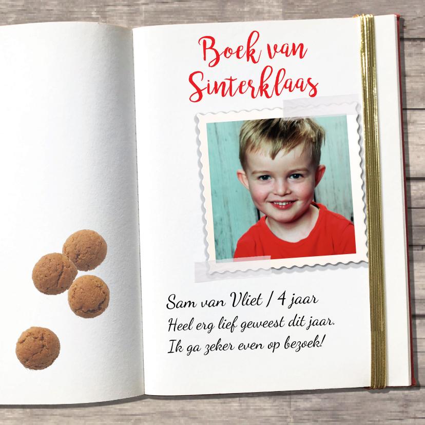Sinterklaaskaarten - Sinterklaaskaart: boek van Sinterklaas