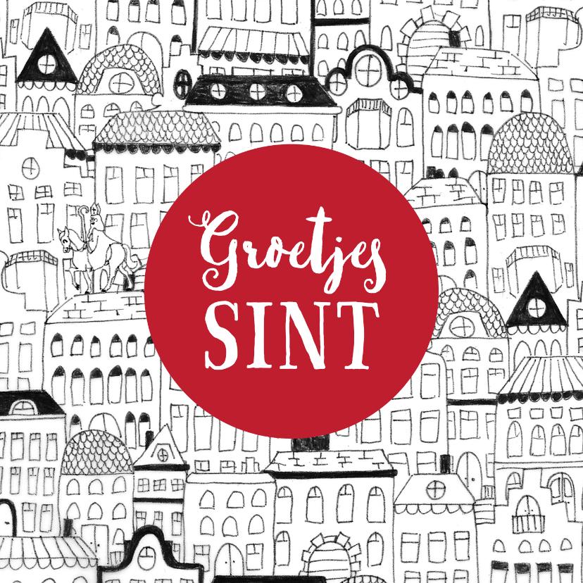 Sinterklaaskaarten - Sinterklaaskaart brief van Sint wortel tekening