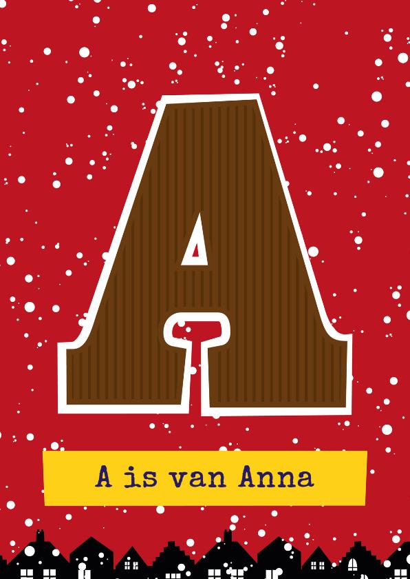 Sinterklaaskaarten - Sinterklaaskaart choco A