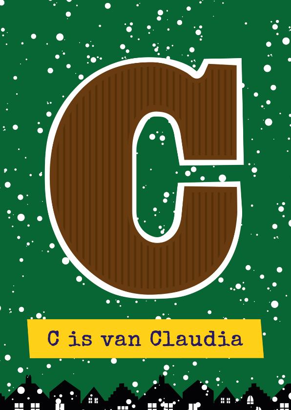 Sinterklaaskaarten - Sinterklaaskaart choco C