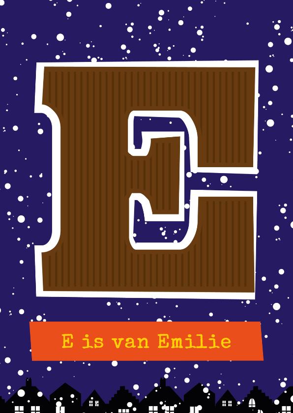 Sinterklaaskaarten - Sinterklaaskaart choco E