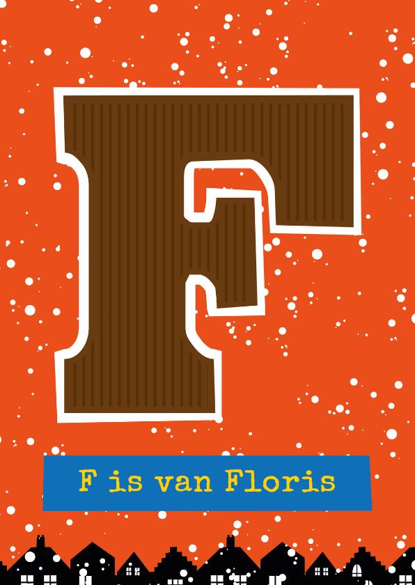 Sinterklaaskaarten - Sinterklaaskaart choco F