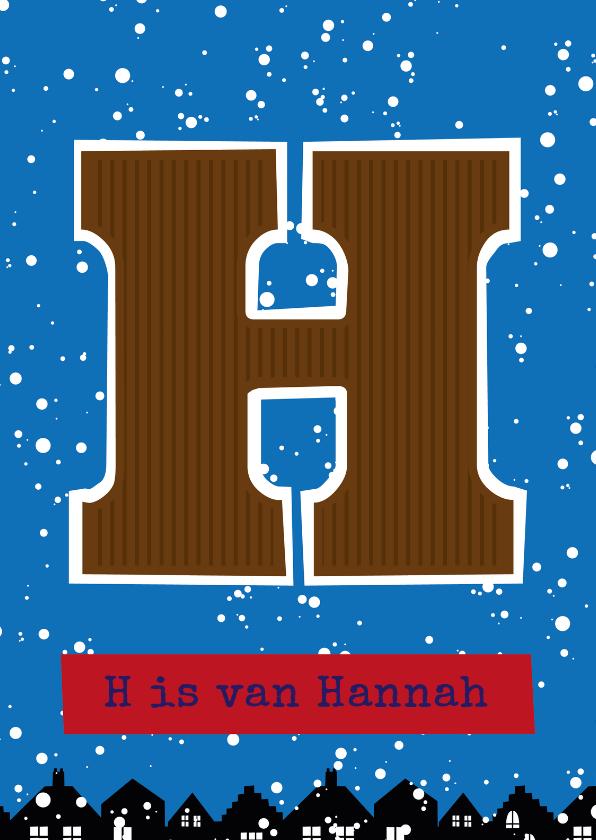 Sinterklaaskaarten - Sinterklaaskaart choco H
