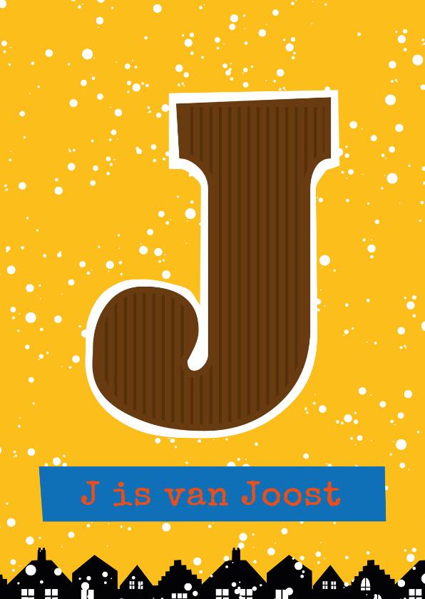 Sinterklaaskaarten - Sinterklaaskaart choco J