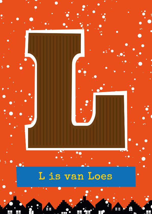 Sinterklaaskaarten - Sinterklaaskaart choco L