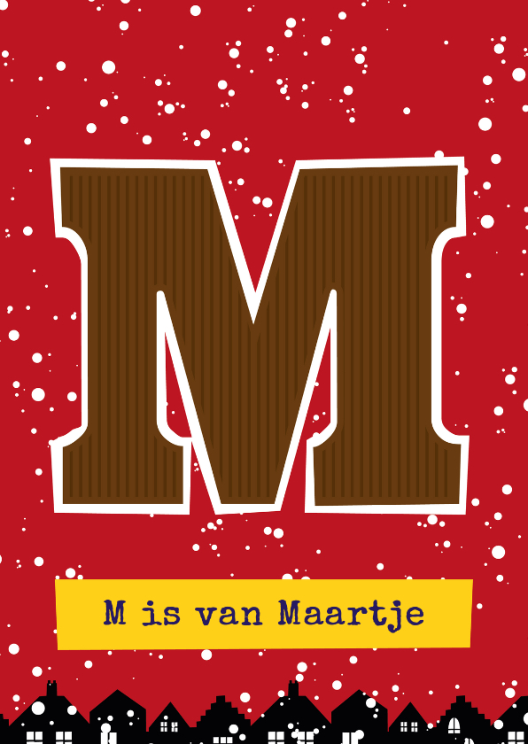 Sinterklaaskaarten - Sinterklaaskaart choco M
