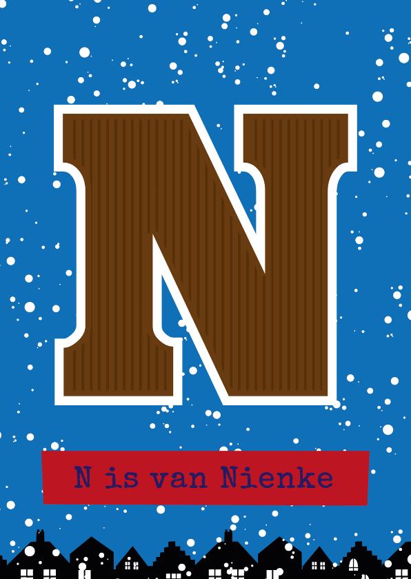 Sinterklaaskaarten - Sinterklaaskaart choco N