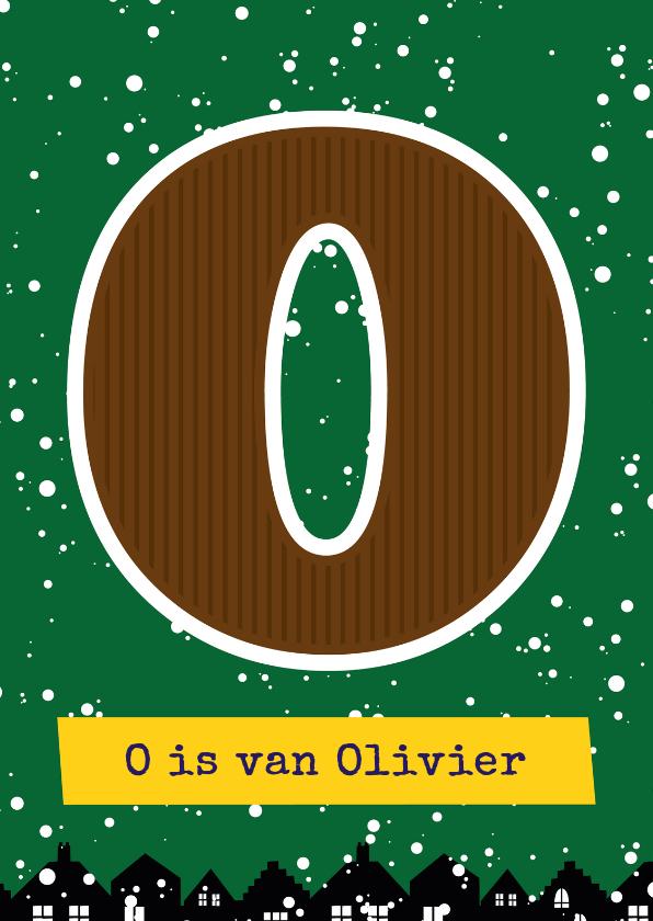 Sinterklaaskaarten - Sinterklaaskaart choco O