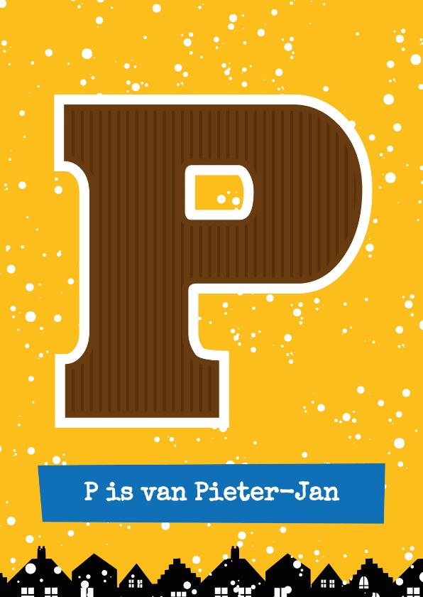 Sinterklaaskaarten - Sinterklaaskaart choco P