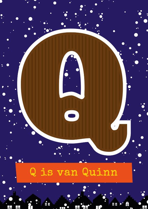 Sinterklaaskaarten - Sinterklaaskaart choco Q