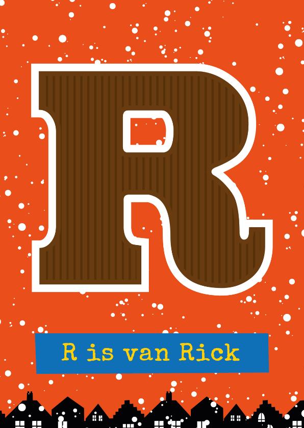 Sinterklaaskaarten - Sinterklaaskaart choco R