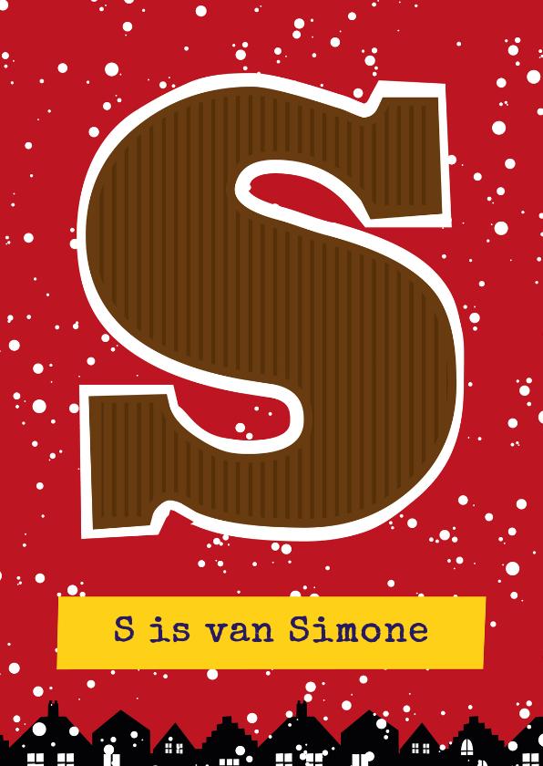 Sinterklaaskaarten - Sinterklaaskaart choco S