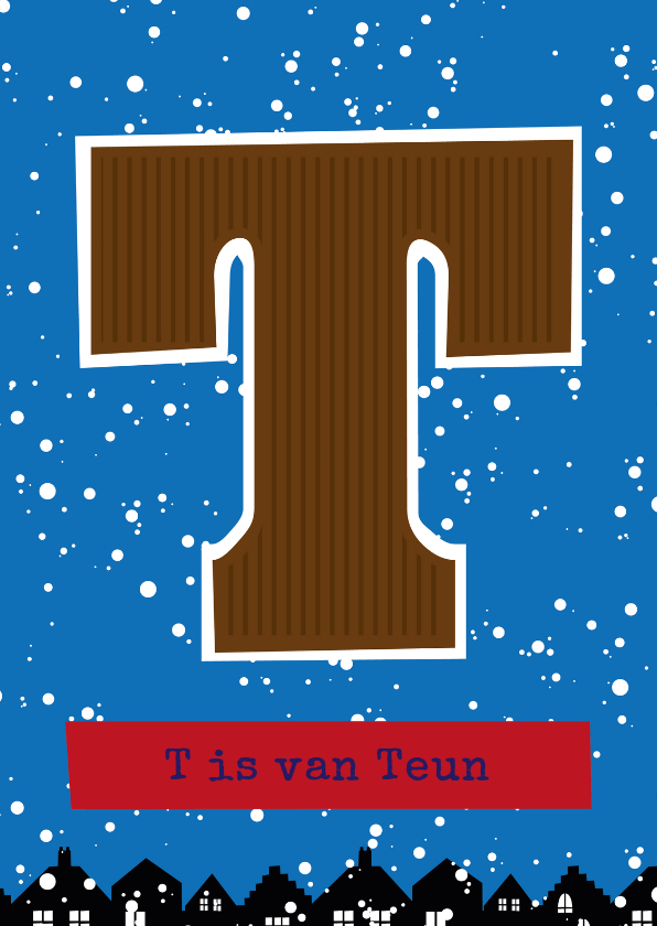 Sinterklaaskaarten - Sinterklaaskaart choco T