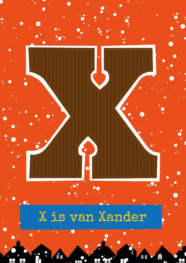 Sinterklaaskaarten - Sinterklaaskaart choco X