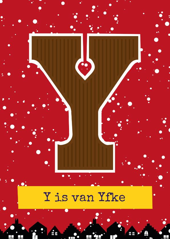 Sinterklaaskaarten - Sinterklaaskaart choco Y