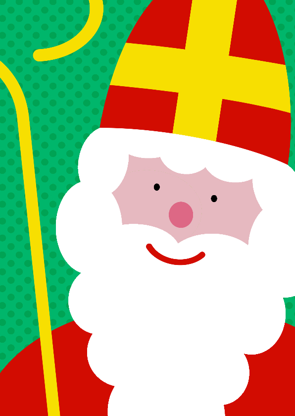 Sinterklaaskaarten - Sinterklaaskaart grote sint