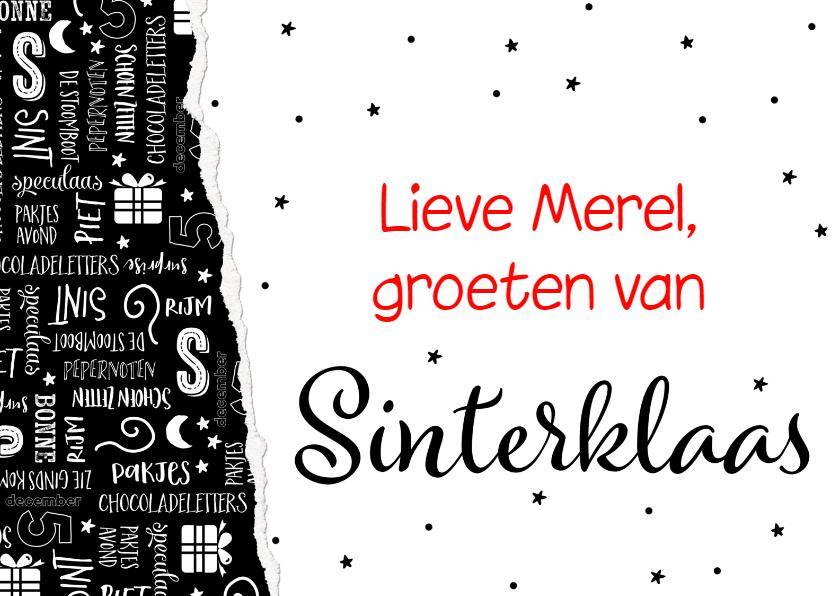 Sinterklaaskaarten - Sinterklaaskaart handlettering