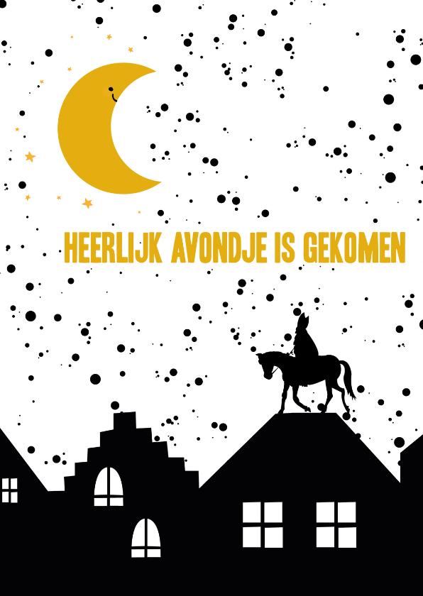 Sinterklaaskaarten - Sinterklaaskaart heerlijk avondje
