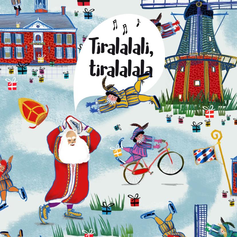 Sinterklaaskaarten - Sinterklaaskaart met het leukste inpakpapier van Nederland