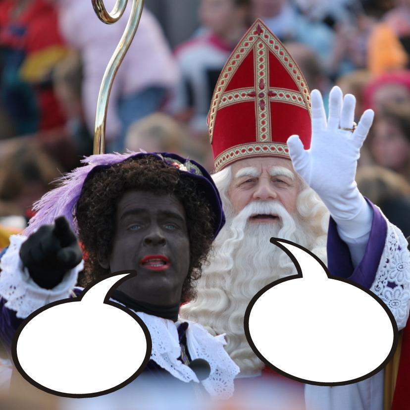 Sinterklaaskaarten - Sinterklaaskaart met Sint en Hoofdpiet