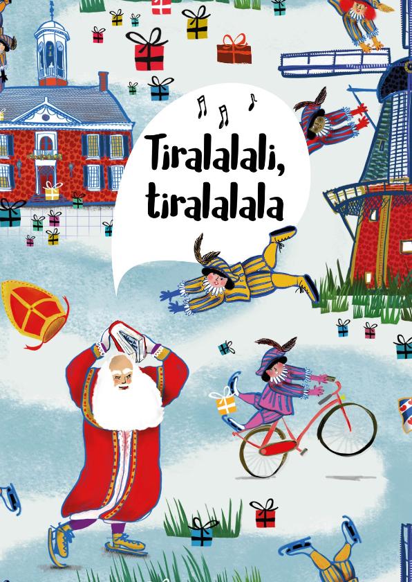 Sinterklaaskaarten - Sinterklaaskaart van het leukste pakpapier van Nederland!