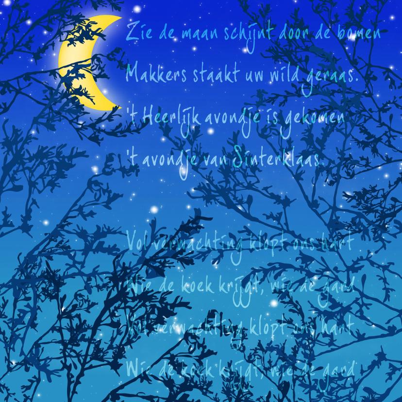 Sinterklaaskaarten - Sinterklaaskaart - Zie de maan schijnt