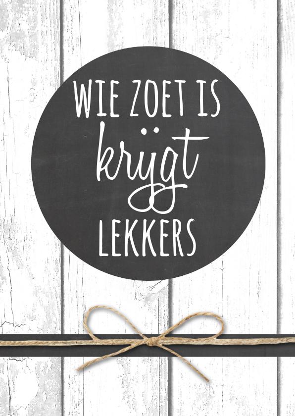 Sinterklaaskaarten - Sinterklaaskaart Zoet