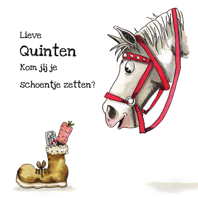 Sinterklaaskaarten - Sinterklaaskaarten Ozosnel schoenzetten