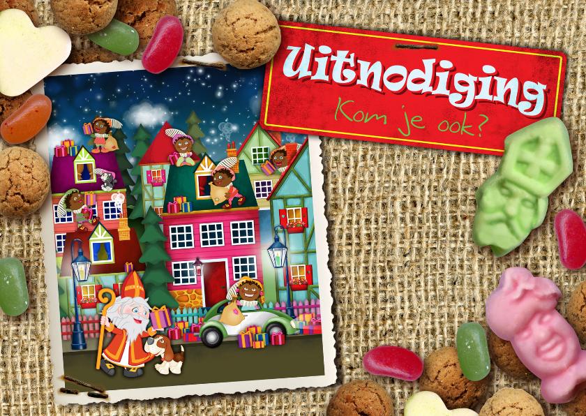 Sinterklaaskaarten - Strooigoed sinterklaas