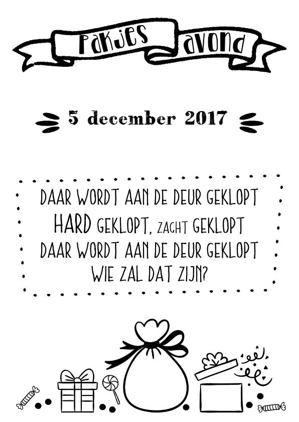 Sinterklaaskaarten - Uitnodiging pakjesavond - WW