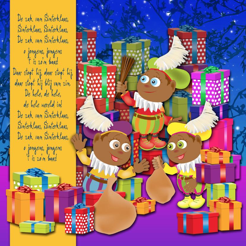 Sinterklaaskaarten - Vrolijke Sinterklaaskaart 4