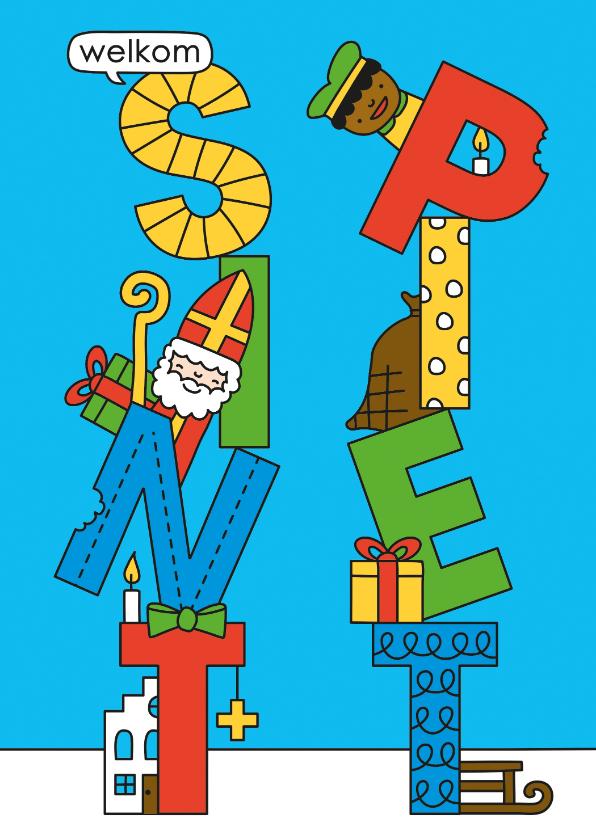 Sinterklaaskaarten - Welkom Sint + Piet