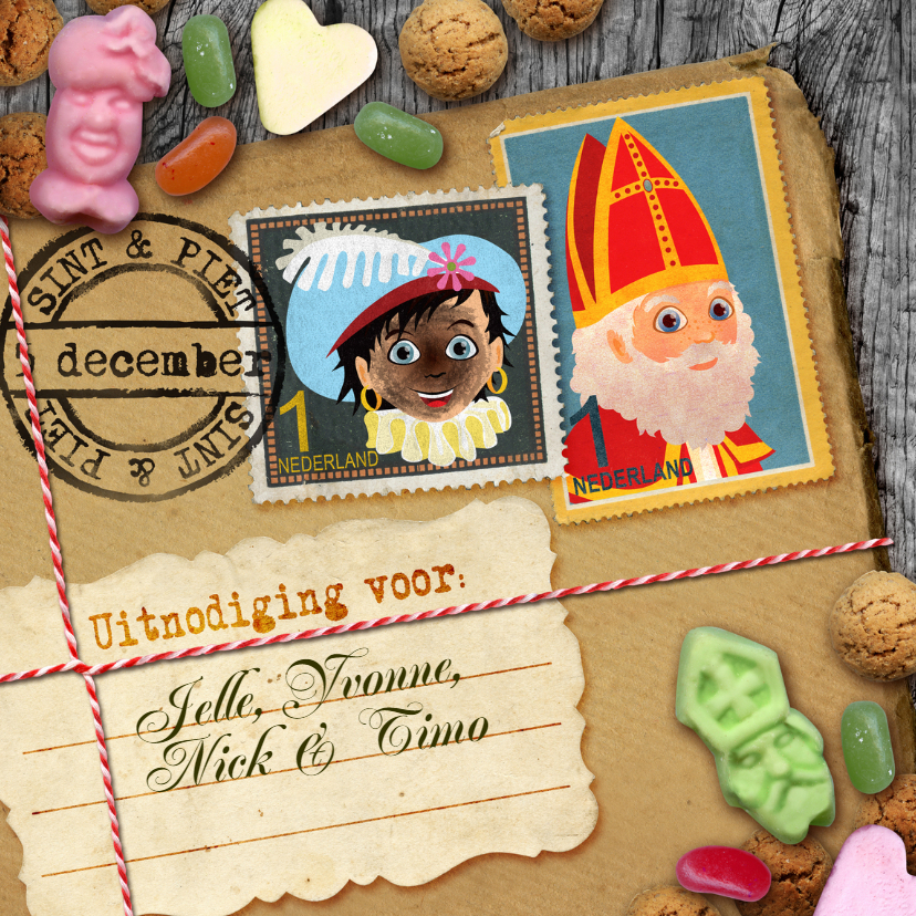 Sinterklaaskaarten - YVON brief van sinterklaas 5 december