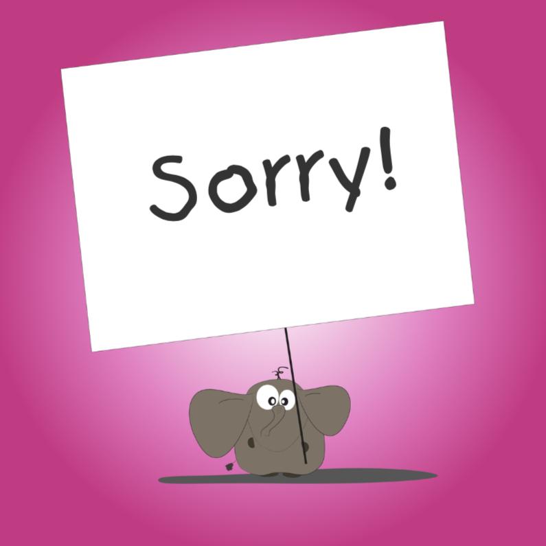 Sorry kaarten - Mo Card - Sorrykaart met een beetje humor