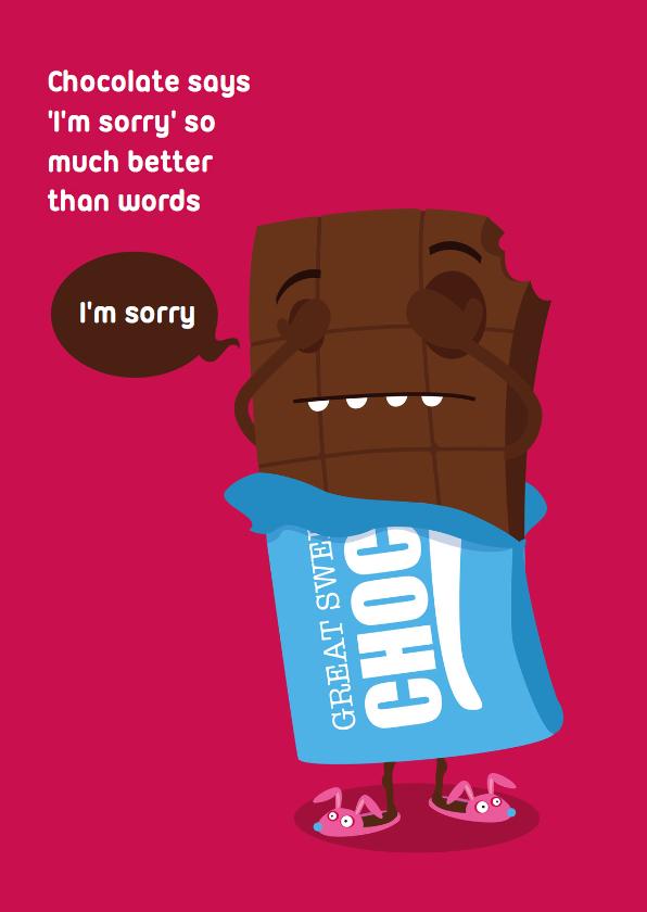 Sorry kaarten - Sorry Funny Food Chocolade