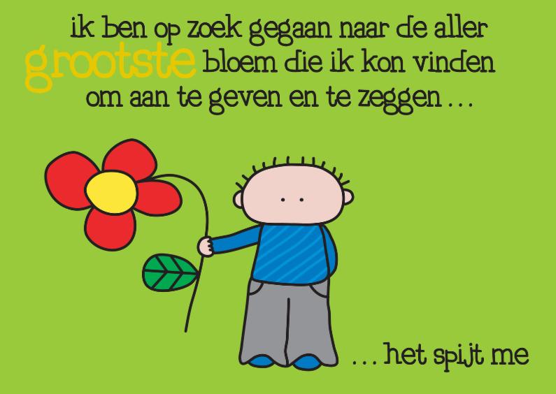 Sorry kaarten - Sorry Grootste Bloem