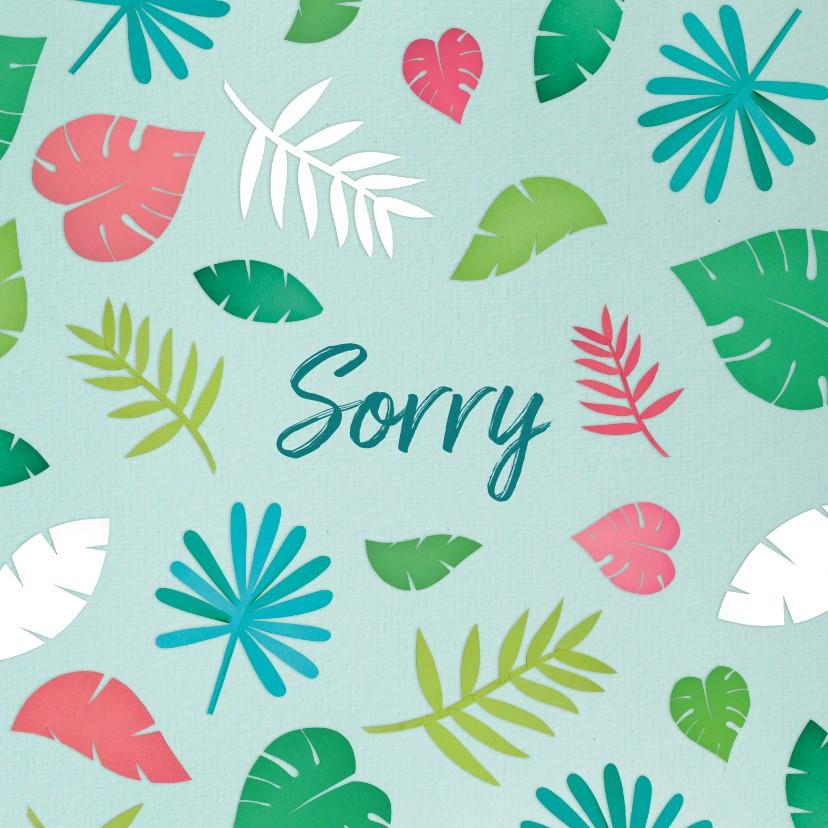 Sorry kaarten - Sorry kaart jungle blaadje