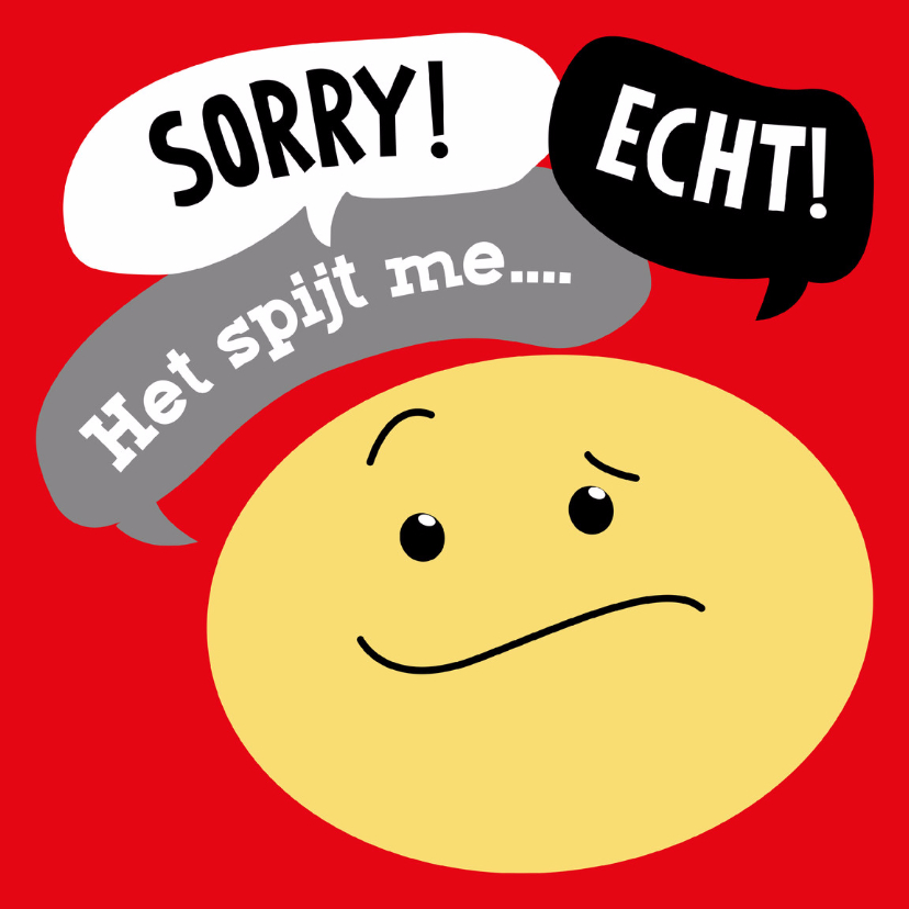 Sorry kaarten - Sorry kaart Smiley