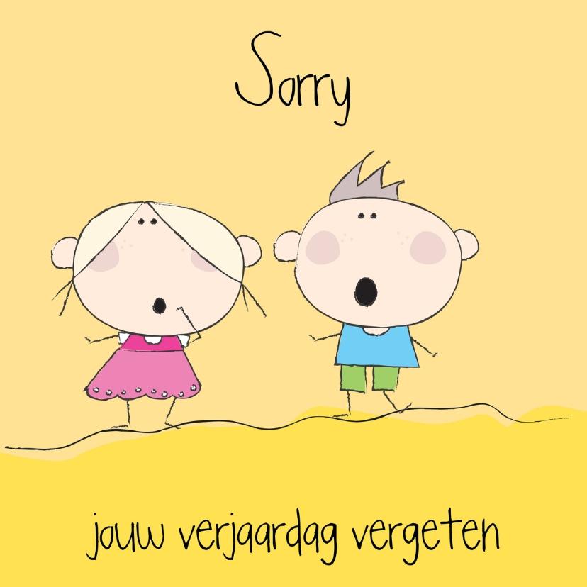 Sorry kaarten - Sorry vergeten