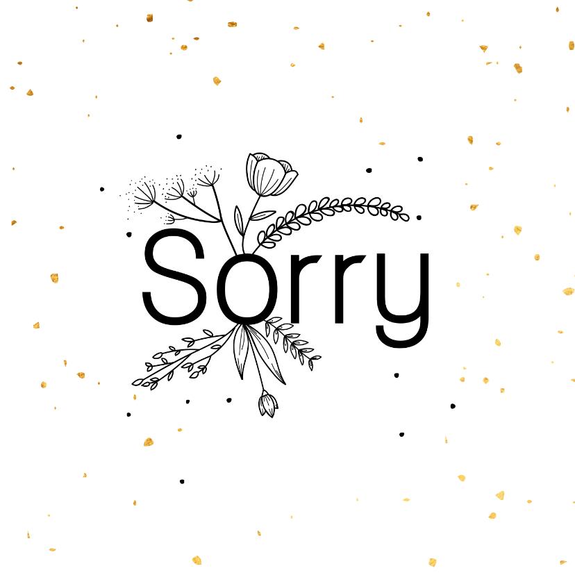 Sorry kaarten - Sorrykaart - flowers