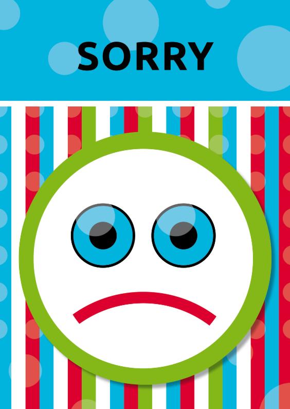 Sorry kaarten - Vrolijk Sorry 01