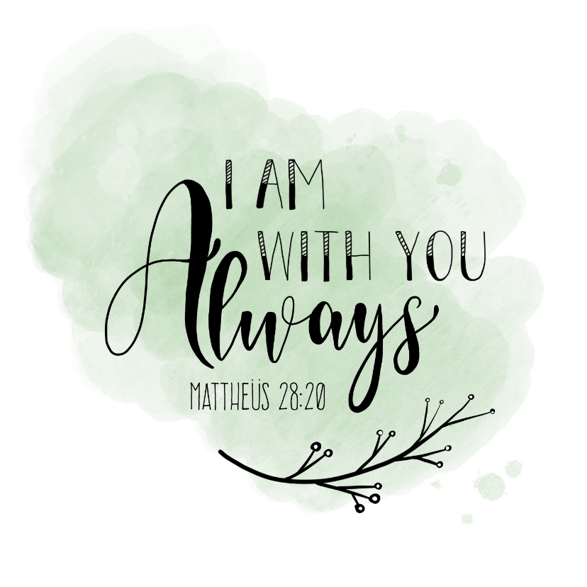 Religie kaarten - Christelijke kaart - I am with you always