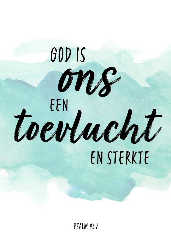 Religie kaarten - Condoleance - God is ons een Toevlucht en Sterkte