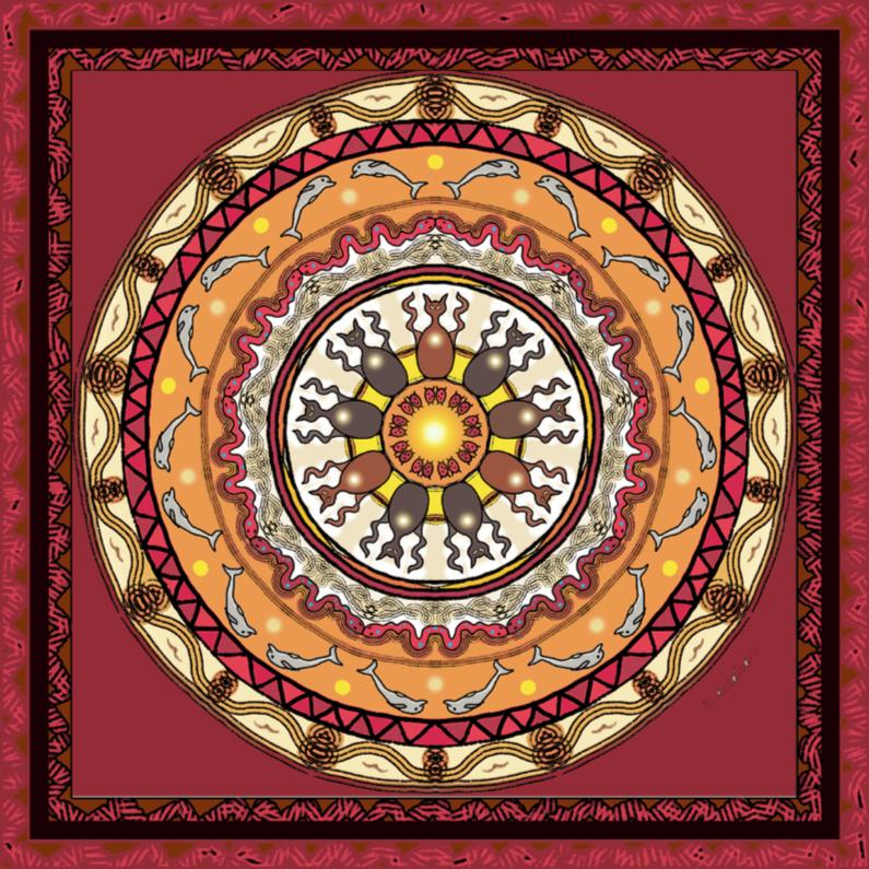 Religie kaarten - DierenMandala2