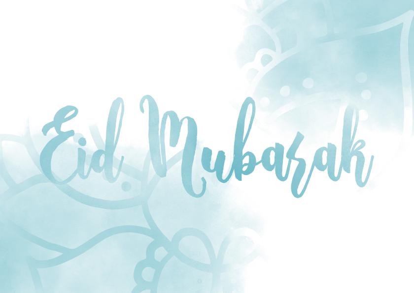 Religie kaarten - Eid Mubarak kaart waterverf met mandala