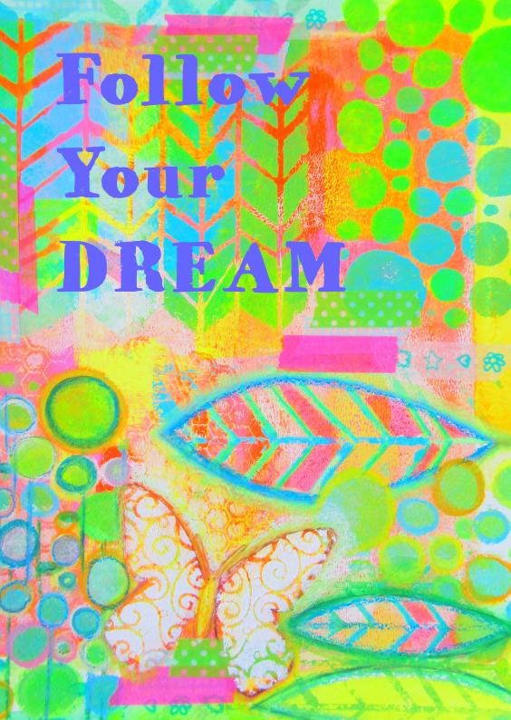 Religie kaarten - Follow your dream