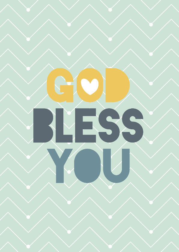 Religie kaarten - God bless you - BF