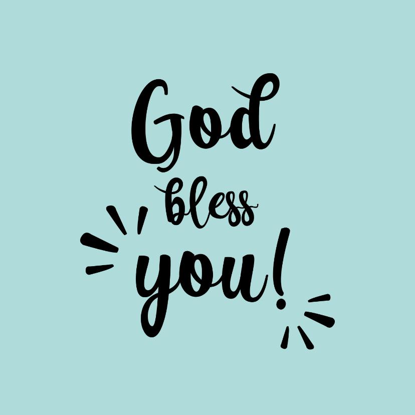 Religie kaarten - God bless you - black and colour - zomaar kaart