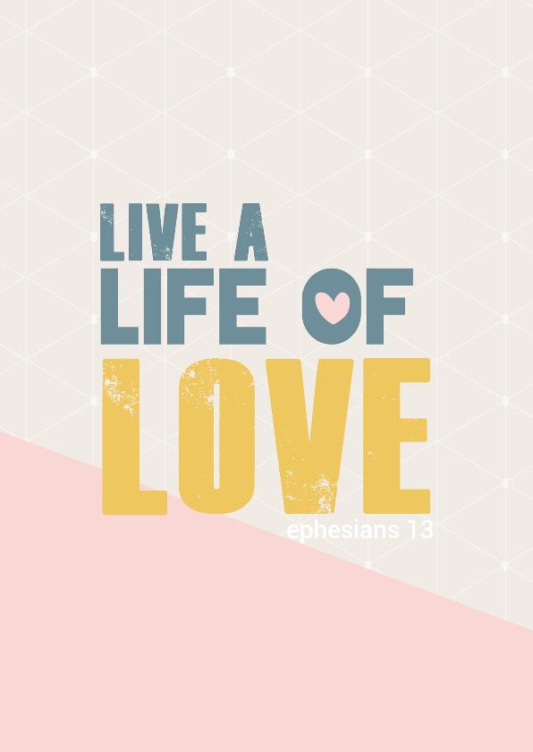 Religie kaarten - Live al life of love - BF
