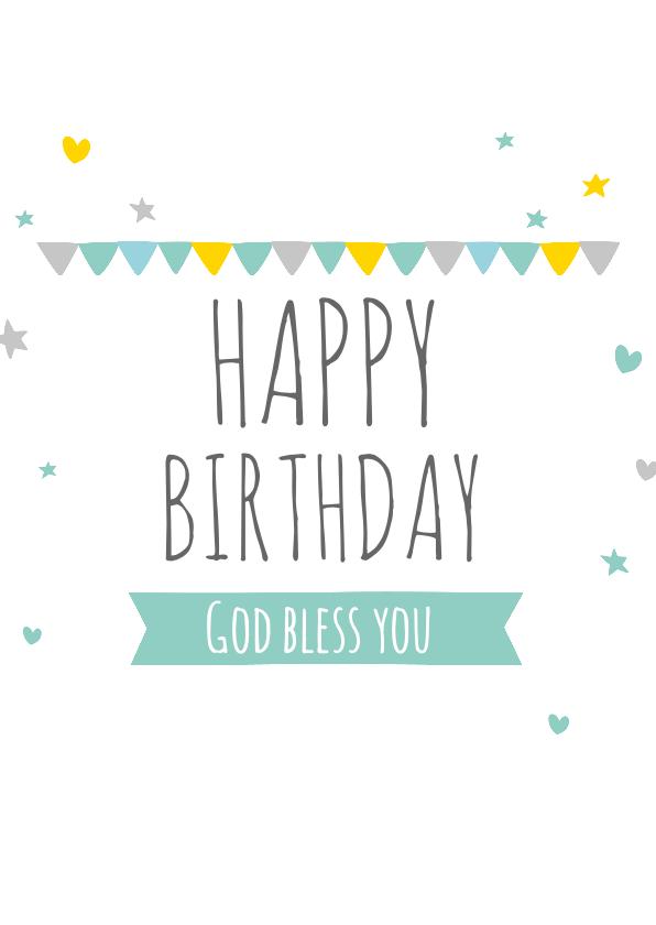 Religie kaarten - Religie kaarten Christelijk HBD God bless you